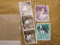 貼り付けられてた香港の切手